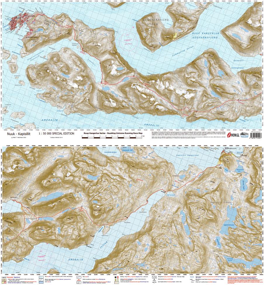 NuukKap Extreme Running Race Map